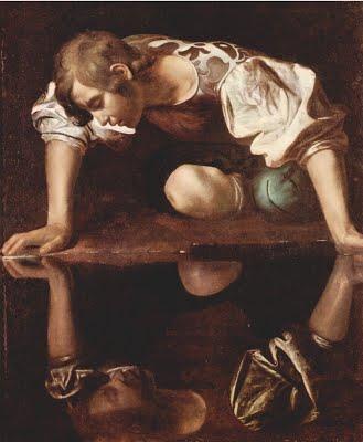 Le Caravage, Narcisse, 1598-1599